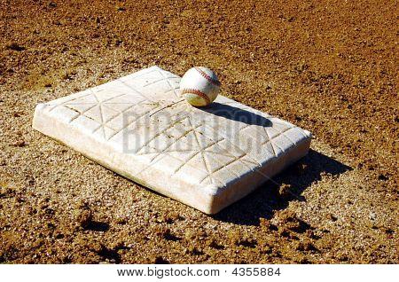 Baseball and mound