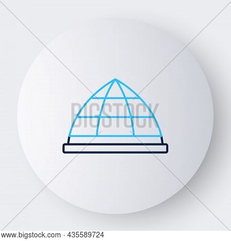 Line Playground Climbing Equipment Icon Isolated On White Background. Kid Playground Climb. Colorful