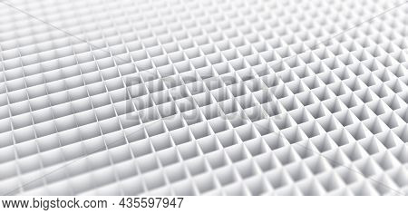 A white grid or multiple sections concept.  3D illustration, 3D rendering.