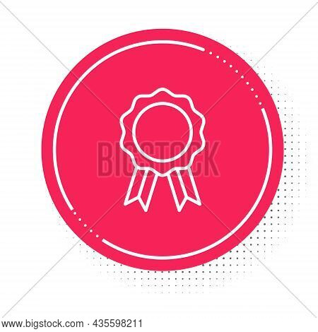 White Line Online Education With Diploma Icon Isolated On White Background. Diploma Online At Home.