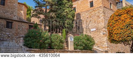 Town View Of The Old Fortified Montblanc In Tarragona, Catalunya, Spain, Panorama