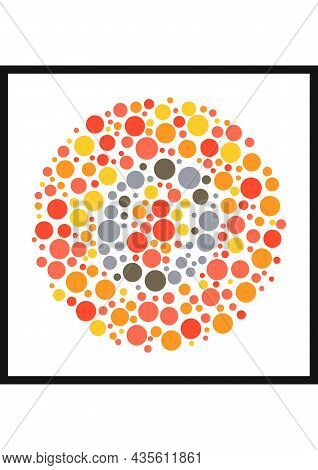Vector Graphic Of Ishihara Color Test Or Color Blind Test Design. The Letter O Cunningly Hid Inside