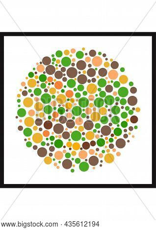 Vector Graphic Of Ishihara Color Test Or Color Blind Test Design. The Wave Line Cunningly Hid Inside