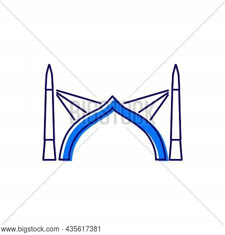 Sinamale Bridge Outline Icon. China Maldives Friendship Bridge The First Cross Sea Bridge In The Mal