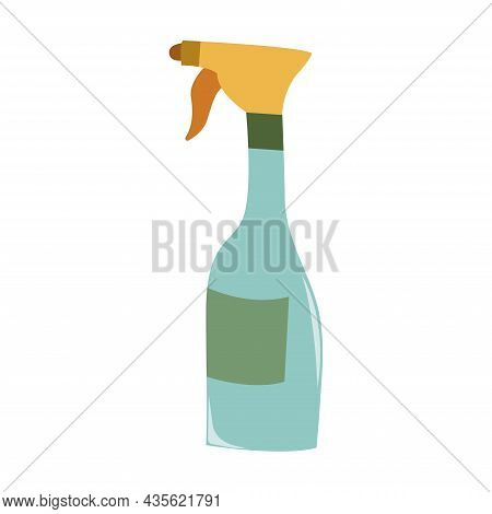 Garden Spray. Agriculture Tool. Housekeeping Equipment. Isolated Vector Illustration On White Backgr
