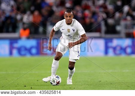 Torino, Italy. 7 October. Jules Ko,e Of France  Controls The Ball During The Uefa Nations League Sem