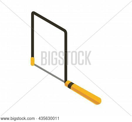 Isometric Hand Tool. Detailed Icon Of Tool For Handyman Repair. Vector Equipment Of Builder Instrume