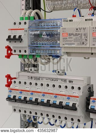 Russia,moscow-september 4, 2021:automatic Current Switches And Differential Current Circuit Breakers