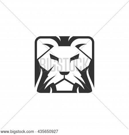 Lion Head Template Illustration Design Mascot Isolated
