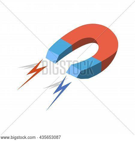 Electromagnetic Magnet Logo Vector Illustration Design Illustration