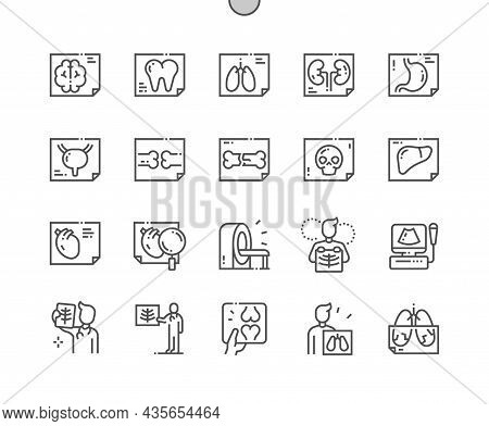 X Ray. Doctor. Health Care, Medical And Medicine. Diagnostic And Treatment. Pixel Perfect Vector Thi