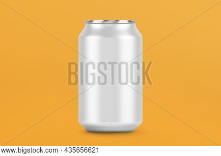 3D empty beverage aluminum can with design space