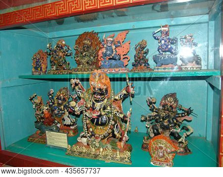 Buddhist Deities In The Museum Of Archaeological Finds During Excavations Of Ancient Burials In Mong