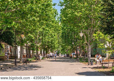 Alexander Suvorov Street In Kherson, Ukraine