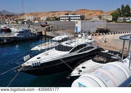 Sharm El Sheikh Port. Pleasure Boats Near The Pier. September 05, 2010. Sharm El Sheikh, Egypt.