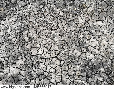 Spoilt The Land,crack Up Black Nature Soil Background
