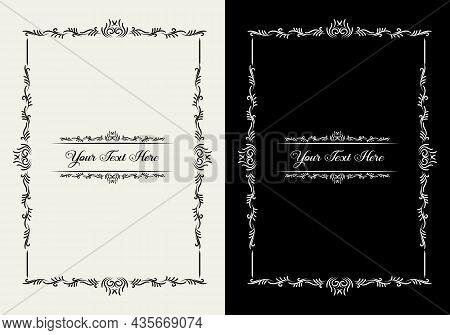 Vertical Certificate Template Diploma Linear Vintage Design