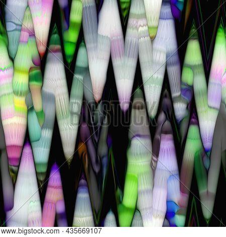 Blurred Solarized Ombre Blotched Blob Seamless Texture. Trendy Soft Multicolor Digital Blur Shape St