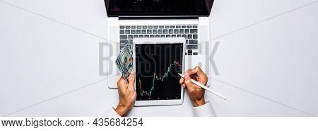 Shares Stockmarket. Finance Application For Sell, Buy And Analysis Profit Dividend Statistics. Inves