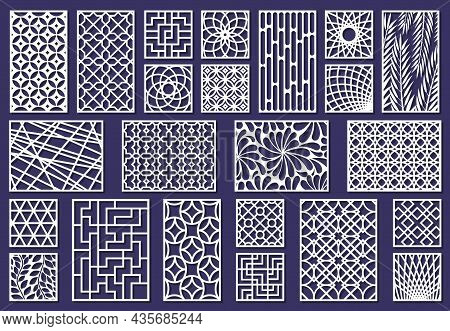 Laser Cut Template Patterns, Paper Art Or Metal Cutting Panels. Abstract Texture Decorative Laser Cu
