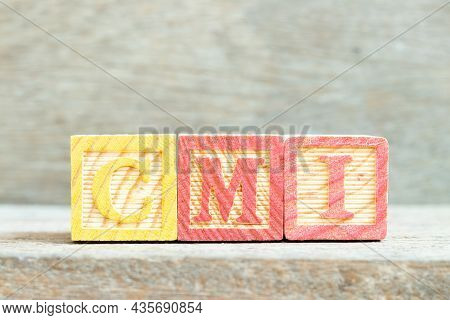Color Alphabet Letter Block In Word Cmi (abbreviation Of Cost Management Index, Co-managed Inventory