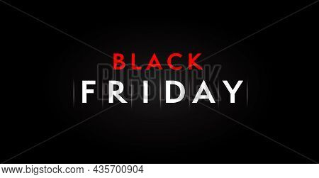 Minimal Black Friday Sale Banner Dark Design Template. November Shopping Promotion, Retail Discount