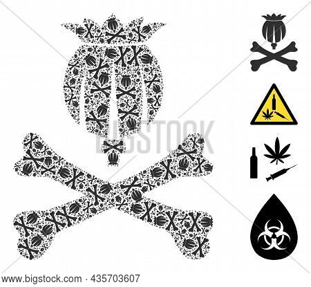 Vector Mortal Opium Composition Is Designed From Scattered Recursive Mortal Opium Pictograms. Recurs