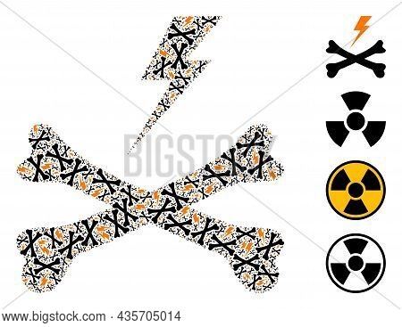 Vector Electrical Hazard Fractal Is Composed From Randomized Recursive Electrical Hazard Pictograms.
