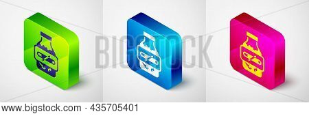 Isometric Nicotine Gum In Blister Pack Icon Isolated On Grey Background. Helps Calm Cravings And Red