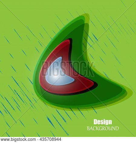 Vector Abstract Background With Colorful Forms Triangle. Eps10