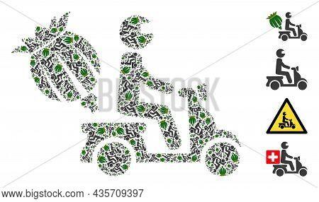 Vector Opium Motorbike Delivery Fractal Is Formed From Repeating Fractal Opium Motorbike Delivery Pi