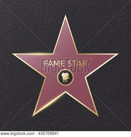 Hollywood Fame Star. Blank Cinema Award. Star Award Template