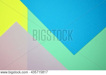 Colored Pastel Paper Texture Minimalism. Cardboard Backgrounds. Minimal Geometric Shapes And Lines I