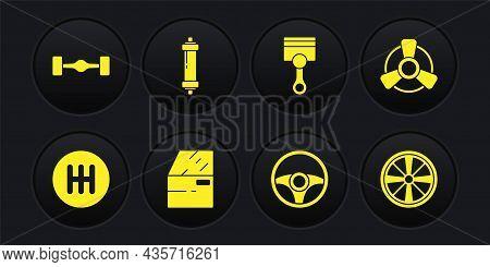 Set Gear Shifter, Car Motor Ventilator, Door, Steering Wheel, Engine Piston, Shock Absorber, Alloy A