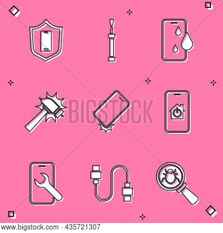 Set Mobile With Shield, Screwdriver, Waterproof Phone, Hammer, Shockproof, Smart Home, Service And U