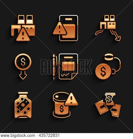 Set Contract Money And Pen, Drop In Crude Oil Price, Tearing Banknote, Debt Ball Chained To Coin, Gl