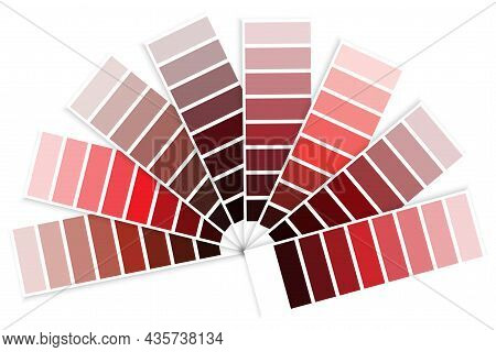 Color Palette Scale Of Red. Handwritten Picture. Design Template. Graphic Background. Vector Illustr