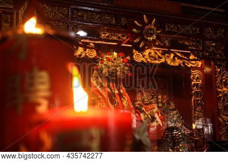 March 20, 2021, Jakarta, This Is A Temple, A Buddhist Worship Place Located In The North Jakarta Are