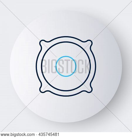 Line Stereo Speaker Icon Isolated On White Background. Sound System Speakers. Music Icon. Musical Co
