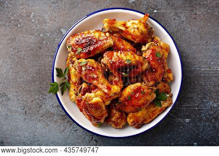 Hot Sauce Glazed Chicken Wings, Roasted Or Fried