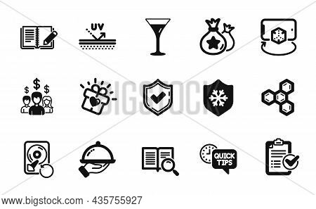 Vector Set Of Feedback, Survey Checklist And Clean Skin Icons Simple Set. Restaurant Food, Recovery