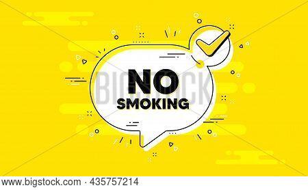 No Smoking Banner. Check Mark Yellow Chat Banner. Stop Smoke Sign. Smoking Ban Symbol. Now Open Appr