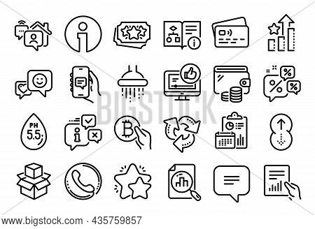 Vector Set Of Shower, Chat App And Text Message Line Icons Set. Calendar Report, Money Wallet And Cr
