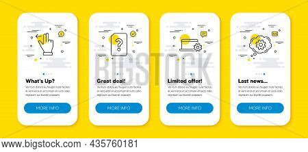 Vector Set Of Touchscreen Gesture, Notebook Service And Unknown File Line Icons Set. Ui Phone App Sc