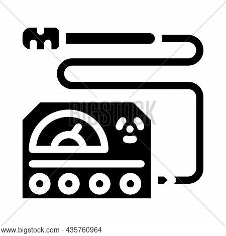 Electromagnetic Wave Meter Glyph Icon Vector. Electromagnetic Wave Meter Sign. Isolated Contour Symb