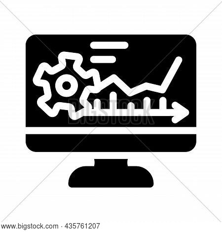 Software Erp Glyph Icon Vector. Software Erp Sign. Isolated Contour Symbol Black Illustration