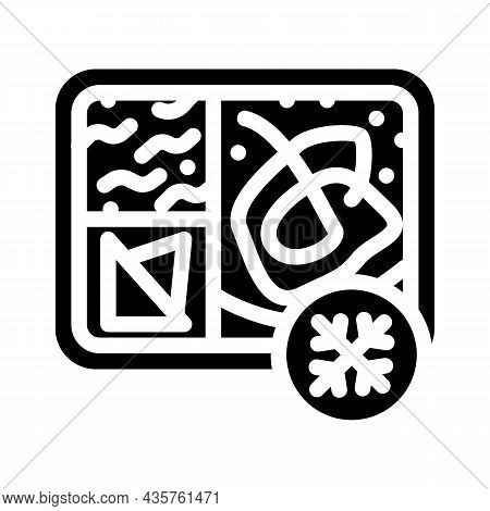 Frozen Lunch Glyph Icon Vector. Frozen Lunch Sign. Isolated Contour Symbol Black Illustration