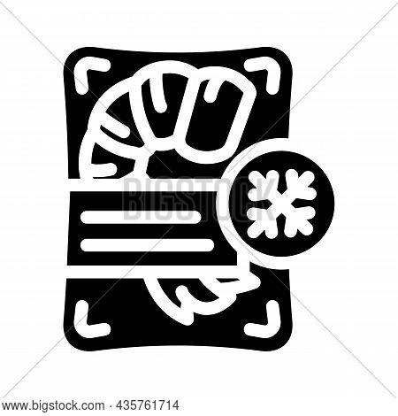 Shrimp Frozen Seafood Glyph Icon Vector. Shrimp Frozen Seafood Sign. Isolated Contour Symbol Black I