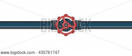 Water Fittings. Pipeline For Various Purposes. Supply Pipeline Cock. Illustration Isolated On Backgr