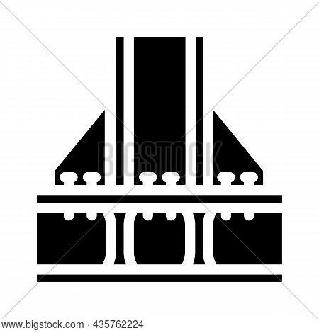 Foundation Metallic Frame Glyph Icon Vector. Foundation Metallic Frame Sign. Isolated Contour Symbol